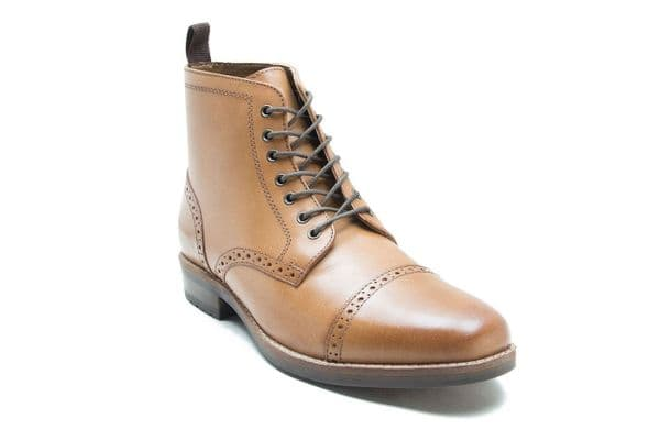 Red Tape Benham Tan Ankle Boots